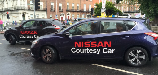 Nissan Courtesy Car at Your Service